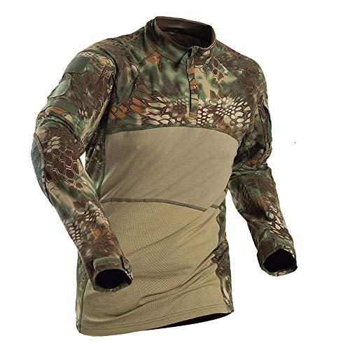 Outdoor Woodland Hunting Shooting US Battle Dress Uniform Tactical BDU Combat Clothing Camouflage Shirt - Mandrake - M