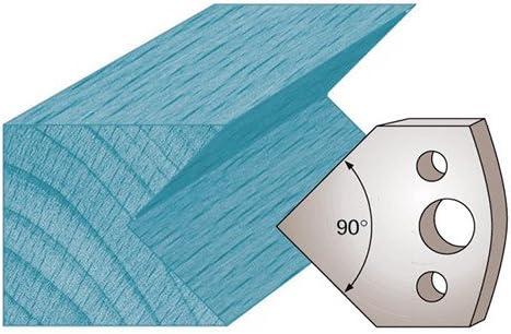 40 x 4 mm chanfrein 45/° M127 pour porte-outils de toupie Diamwood Platinum Jeu de 2 fers profil/és Ht Diamwood Platinum