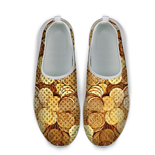 Unisex's Running FOR Dollar Casual Sneaker Mesh U Print Shoes Stylish Yellow 2 DESIGNS Coin vYaRTwAYq