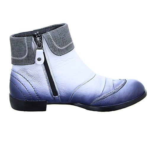 Maciejka Stiefelette 02623 Damen Leder Weiß Blau