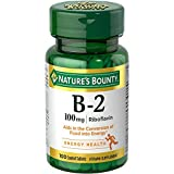Nature's Bounty Vitamin B-2 100 mg, 100 Coated Tablets (Pack of 2)