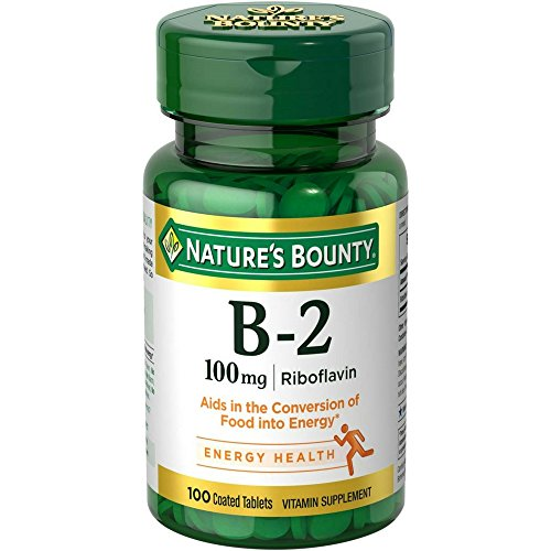 Nature's Bounty Vitamin B-2 100 mg, 100 Coated Tablets