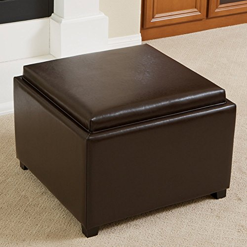 Ottoman Tray Round Storage (Best Selling Wellington Tray Top Ottoman)
