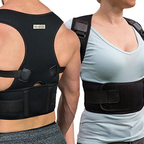 Posture Corrector for Women and Men - Comfortable Back Support Brace to Trigger Rounded Shoulders and Upper Back to Proper Position - Discreet Vest for Pain Relief - May Wear Under Clothes