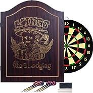 Trademark Global 15-DG91004 King's Head Value Dark Wood Dartboard Cabinet