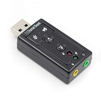 JYL 7.1 Tarjeta de Sonido USB Externa USB a Jack Adaptador ...