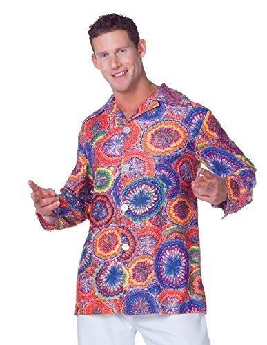 Underwraps Men's Plus-Size 70's Psychedelic Shirt, Multi,