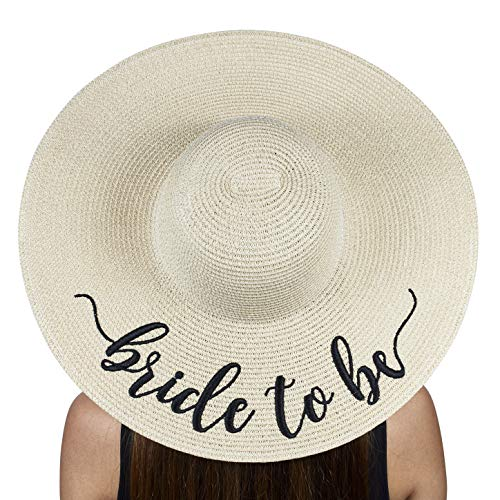 The Chic Soul Beach Floppy Hat for Bridal Shower Gift Bachelorette Party (Bride to Be)]()