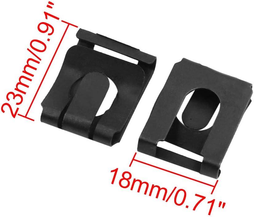 10 pezzi X AUTOHAUX Clip di fissaggio in metallo per cruscotto auto 13 x 17 mm