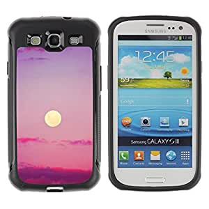 LASTONE PHONE CASE / Suave Silicona Caso Carcasa de Caucho Funda para Samsung Galaxy S3 I9300 / Purple Sunset Clouds Nature Sky Summer