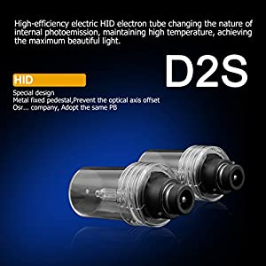 CougarMotor HID Xenon Headlight Replacement Bulbs - D2S - 35W 5000K (Pack of two bulbs) - 2 Yr Warranty