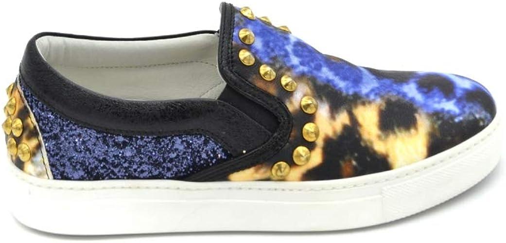Stokton Womens MCBI35053 White Leather Sneakers