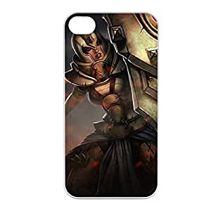 Leona-003 League of Legends LoL case cover for Apple iPhone 4 / 4S - Plastic White