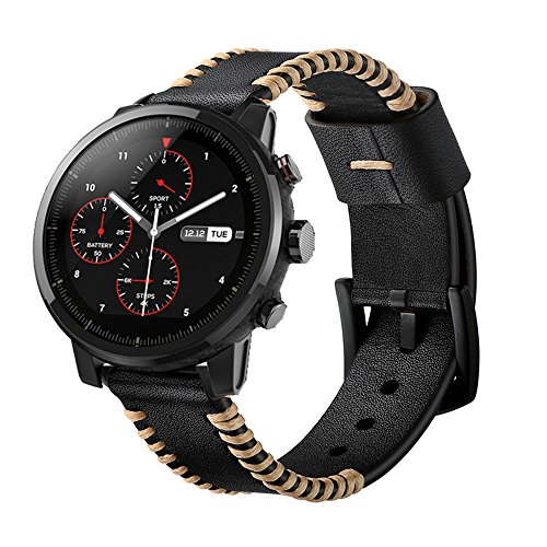 YOOSIDE for Garmin Fenix 5/Forerunner 935 Watch Band,22mm Genuine Leather Replacement Watch Strap for Fenix 5/5 Plus/Forerunner 935,Fit Wrist 5.9''-7.9''(NOT for Fenix 5X/5S) by YOOSIDE (Image #2)