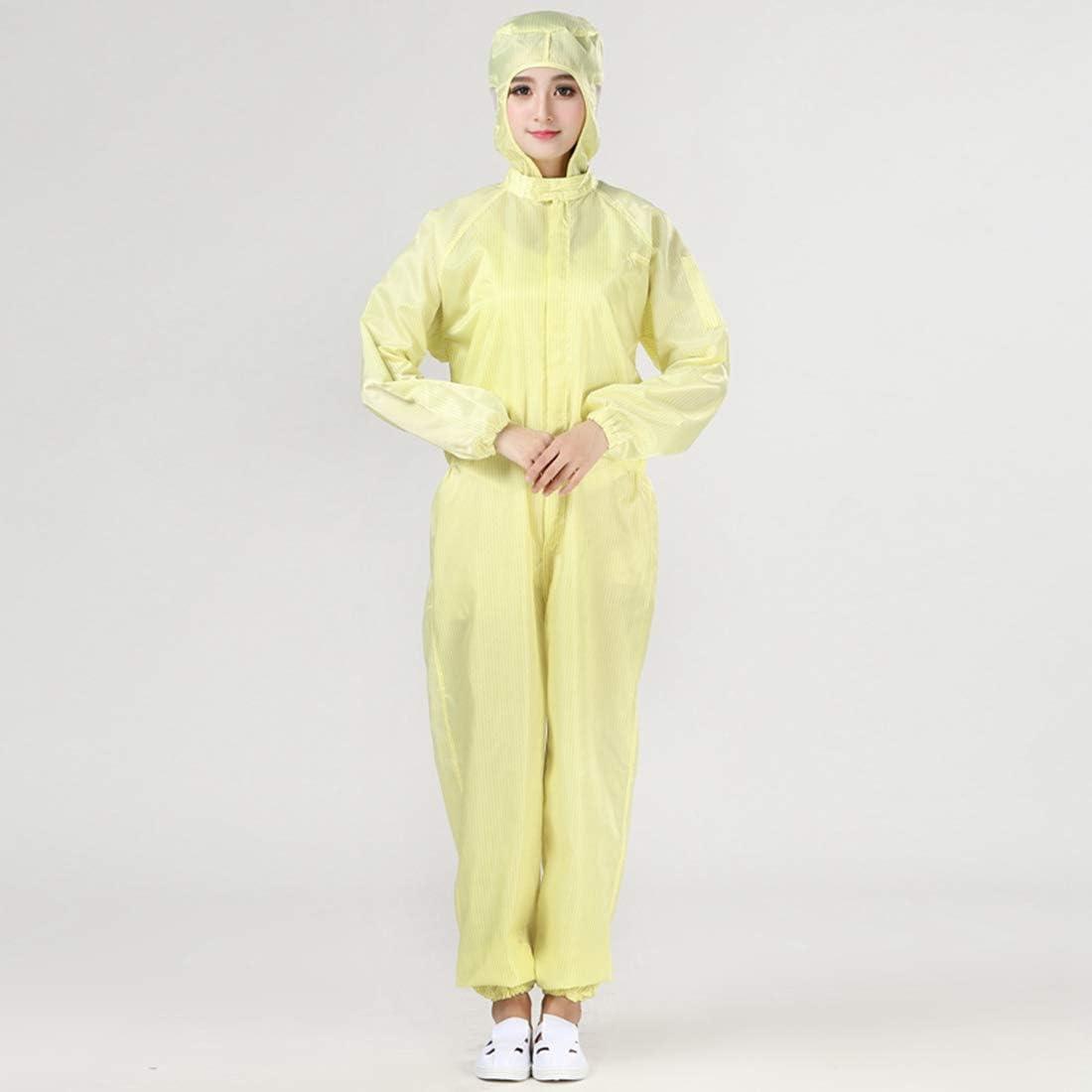 XINGYUE Mens Womens Anti-Static Jumpsuit Lightweight Nurse Uniform Scrub Fluid Protection Gown Pink S