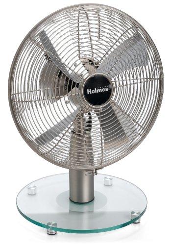 UPC 048894025471, Holmes HAOF1616-U 16-Inch Tall, Glass Base Table Fan