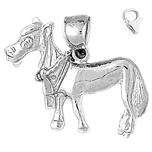 - Jewels Obsession Donkey Charm | 14K White Gold Donkey Charm Pendant - 21mm