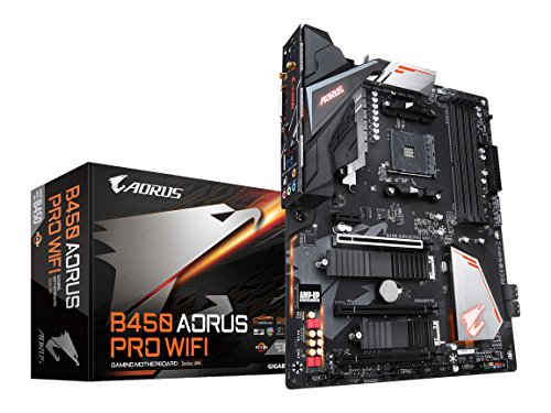 GIGABYTE B450 AORUS PRO WIFI (AMD Ryzen AM4/M.2 Thermal Guard with Onboard WIFI/HDMI/DVI/USB 3.1 Gen 2/DDR4/ATX/Motherboard)