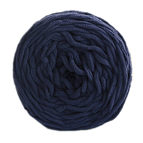 Celine lin One Skein Soft&Warm Baby Blanket Yarn Big Warm Scarf Yarn Crochet Yarn,Navy blue