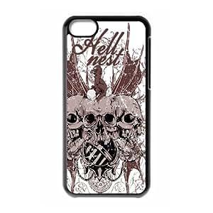 Iphone 5C Skull Phone Back Case DIY Art Print Design Hard Shell Protection DF080066