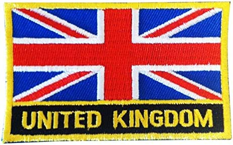UK Flag Embroidered Iron Sew On  Patch United Kingdom Badge TransfeYJCA
