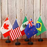 Anley 24 Countries Deluxe Desk Flags Set - 7.5 x