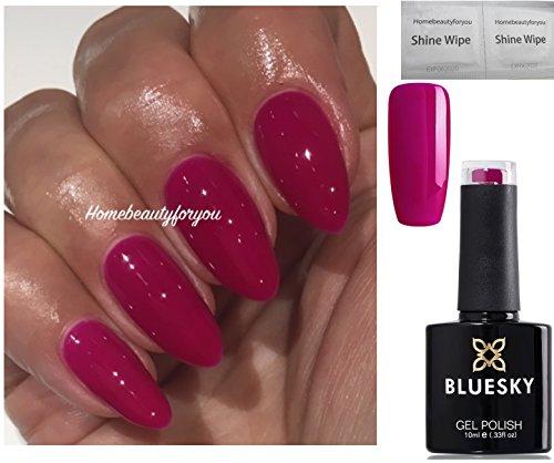Bluesky Neon 13 Blackcurrant Dark Pink Raspberry Nail Gel Polish Uv