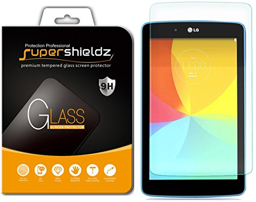 [2-Pack] Supershieldz for LG G Pad 7.0 / G Pad 7.0 LTE Screen Protector, [Tempered Glass] Anti-Scratch, Anti-Fingerprint, Bubble Free, Lifetime - Lg Protector Tablet Screen V410