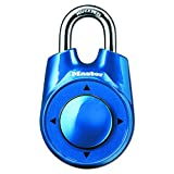 Master Lock Padlock, Set Your Own Speed Dial Combination Lock, 2-1/8 in. Wide, Assorted Colors, 1500iD
