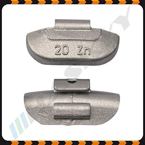 20g x 100 Schlaggewichte Stahlfelgen Auswuchtgewichte Wuchtgewichte Gewichte