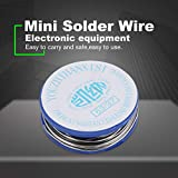 5pcs 10g 0.7mm Mini Wire Solder Wire Tin Wire with 2% Flux and Rosin for Electric Soldering Iron Electronic Appliances