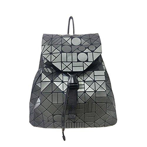 Aoligei Sac à dos femme japonaise géométrie Ling Ge-lumière brossé double sac à bandoulière J