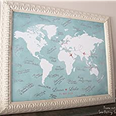 Amazon maps by angie llc handmade wedding guest book alternative custom world map wedding guest book map wedding gumiabroncs Image collections