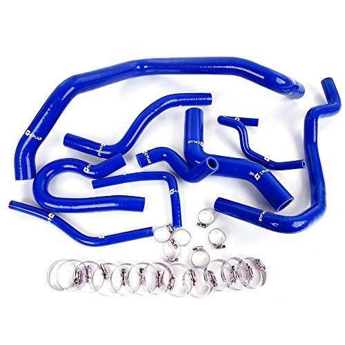 9pcs Silicone Radiator Coolant Hose Kit Clamps For Honda Civic D15 D16 Sohc Eg Ek 1992-2000 Blue
