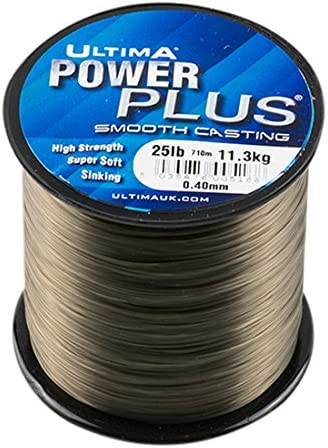 glatt hochwertig 300/m // 600/m // 113,4/g Spulen in verschiedenen Gr/ö/ßen ULTIMA Power Plus Angelschnur monofil
