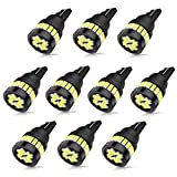 SEALIGHT 194 LED Bulb 6500K White 168 T10 2825 W5W SMD 3014 Chipsets Non-Polarity LED Replacement for Car Interior Dome Map Courtesy License Plate Lights