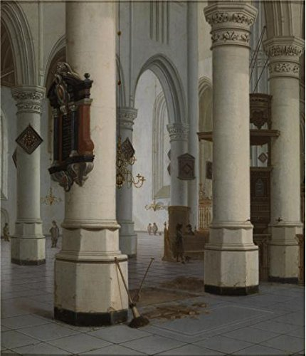 White Trash Costume Ideas For Couples (Perfect Effect Canvas ,the High Resolution Art Decorative Canvas Prints Of Oil Painting 'Hendrick Cornelisz Van Vliet - Interior Of New Church In Delft, 17th Century', 30x35 Inch / 76x89 Cm Is Best For Game Room Artwork And Home Decor And Gifts)