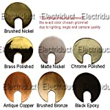 Image of Metal Desk Grommet - Color: Brushed Bronze