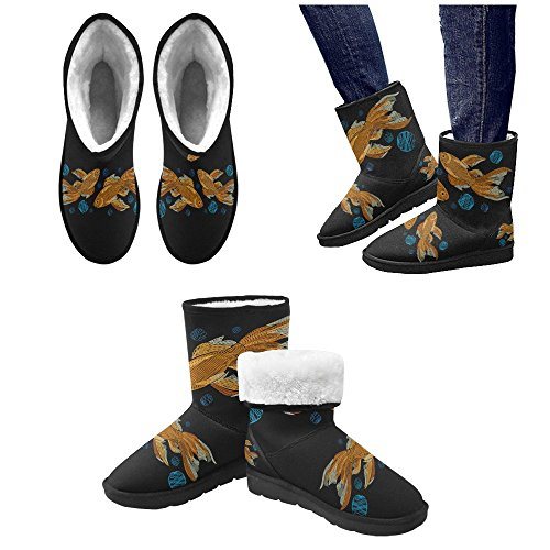 InterestPrint LEINTEREST golden fish Snow Boots Fashion Shoes For Men
