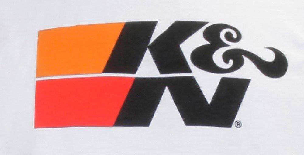 K/&N 88-6006-S White Small Original Logo T-Shirt K/&N Engineering