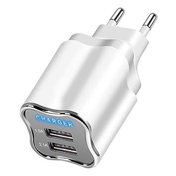 Kaimus Cargador móvil Dual USB 5V 2.1A Teléfono General ...