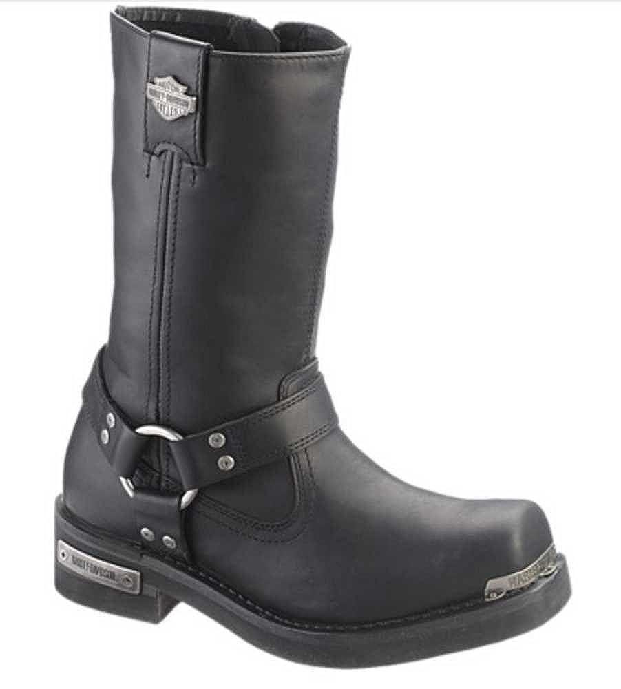 Black HARLEY-DAVIDSON FOOTWEAR Mens Landon Motorcycle Boot 9 Medium US