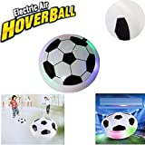 Kids Hover Ball Toys Air Power Soccer Disc Air Soccer Football Training Ball with LED Lights and Foam Bumpers for Boys Girls Indoor Outdoor Disk Game Birthday Christmas Gifts by AENMIL(White)