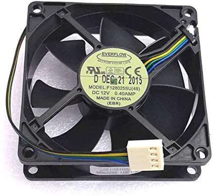 New Cooler Fan for 8cm F128025SU DC 12 V 0.4A 8025 4wire Everflow Cooling Fans