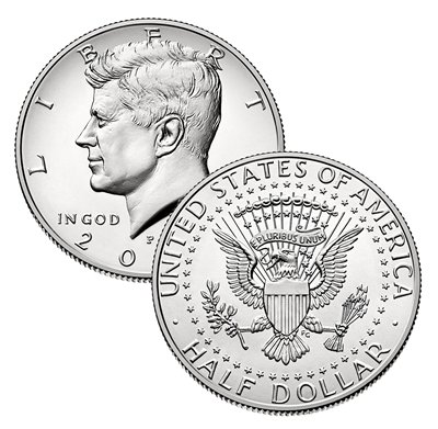 2018 P, D Kennedy Half Dollar 2 Coin Set Uncirculated -