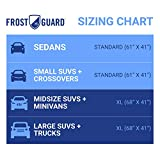 FrostGuard Plus Winter Windshield + Mirror Covers - Weather Resistant - Security Panels and Wiper Blade Cover - Protects from Snow, Ice and Frost
