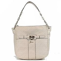 Guess Women's La Vida Logo SG452602 Signature Embossed Hobo Handbag