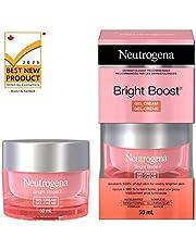 Neutrogena Bright Boost Gel Cream, Brightening Face Moisturizer With Aha, Pha, Mandelic Acid & Neoglucosamine for Brighter Skin & Anti Aging,, 50 Milliliters