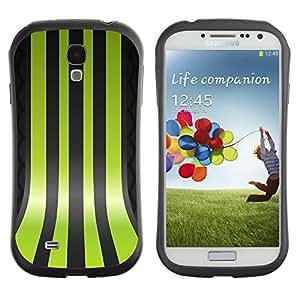 LASTONE PHONE CASE / Suave Silicona Caso Carcasa de Caucho Funda para Samsung Galaxy S4 I9500 / Green Lines