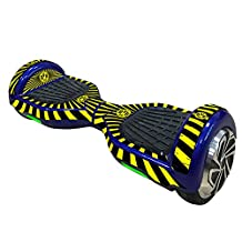 Elisona-Skin Cover Decal Sticker for 6.5 inch Smart Self Balancing Scooter Board Hoverboard Yellow+Black